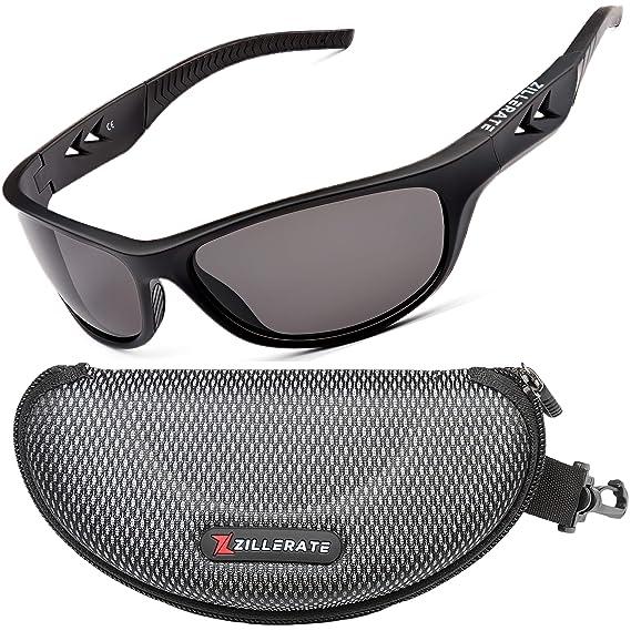 ZILLERATE Gafas de Sol Polarizadas Deportivas para Hombre y Mujer – Protección UV400 con Montura Irrompible y Ligera – Ideal para Ciclismo Esquí Golf ...
