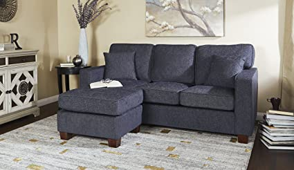 Amazon Com Sectional Sofa With 2 Matching Pillows Coffee Finished