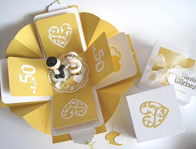 Geldgeschenk Geschenk Zur Goldenen Hochzeit Goldene Hochzeit Mit