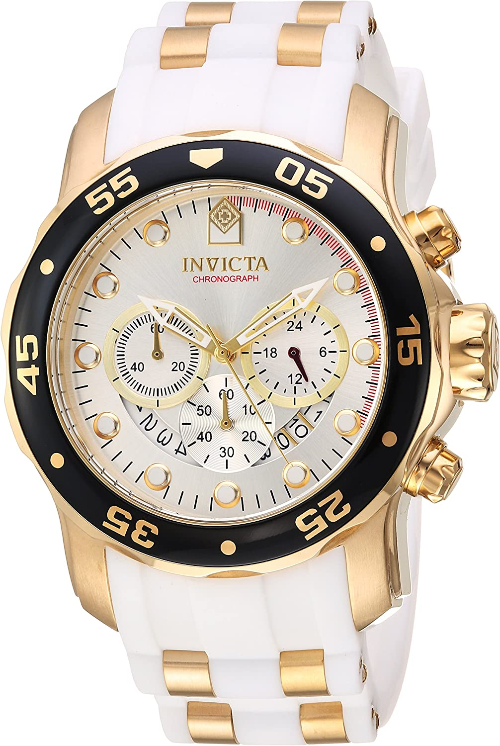 Invicta Men s Pro Diver Stainless Steel Quartz Watch with Silicone Strap, Two Tone, 1 Model 20292