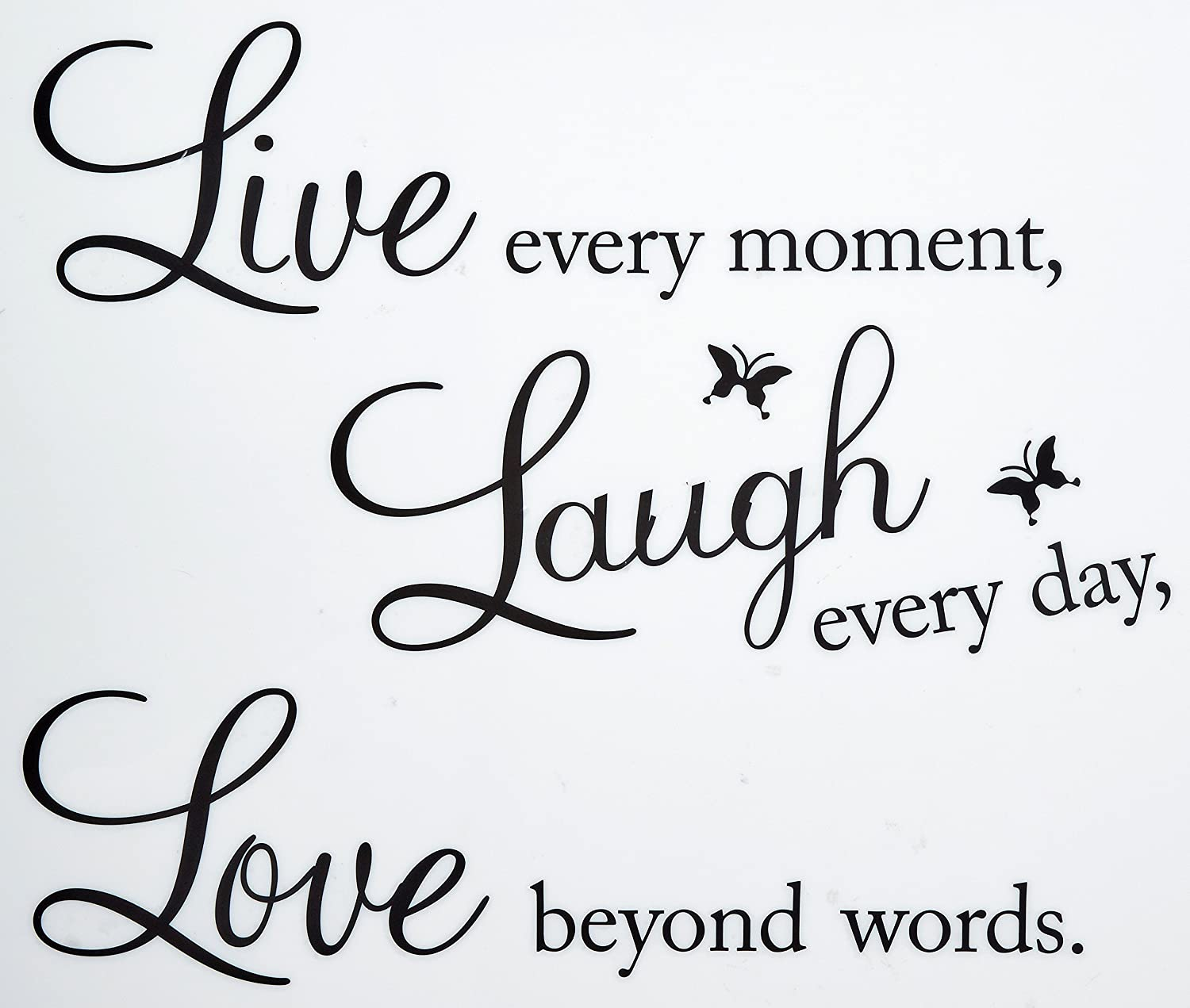 amazon com vinyl decal live every moment laugh every day love amazon com vinyl decal live every moment laugh every day love beyond words wall quote home kitchen