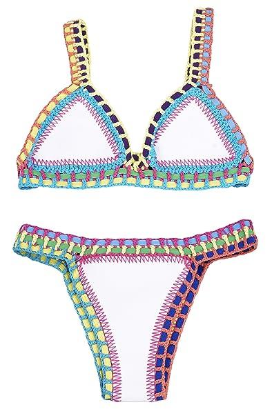 91a061ed7f72 YARBAR Atractivo de las Mujeres Color Mezclado Bikini Sujetador ...