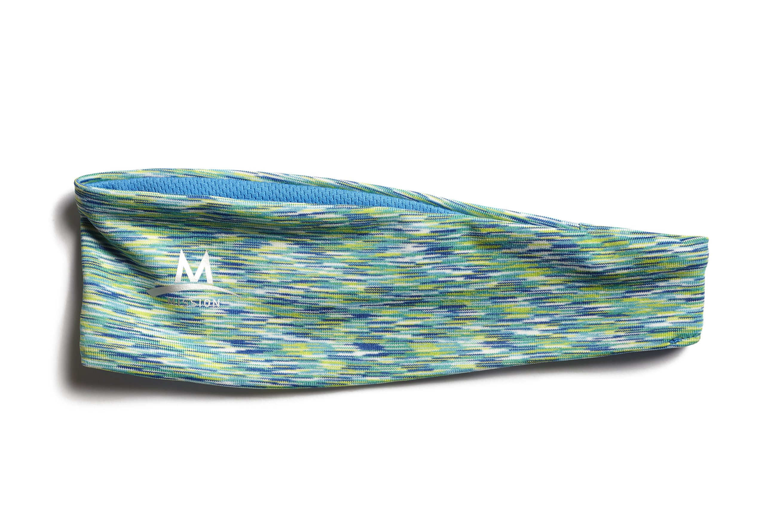 Mission Enduracool Lockdown Cooling Headband, Multi Teal Space Dye by Mission (Image #1)