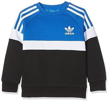 adidas J Trf Fl Crew Sudadera, Niños, Azul (Azul/Blanco/Negro), 158: Amazon.es: Deportes y aire libre