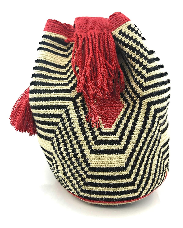 Labyrint colombianska handväskor, Wayuu ryggsäck för både kvinnor och män. Playa