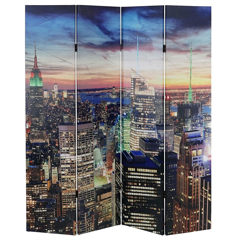 Paravent - séparation LED - motif New York - programmable - alimenté par réseau ~ 180x160cm