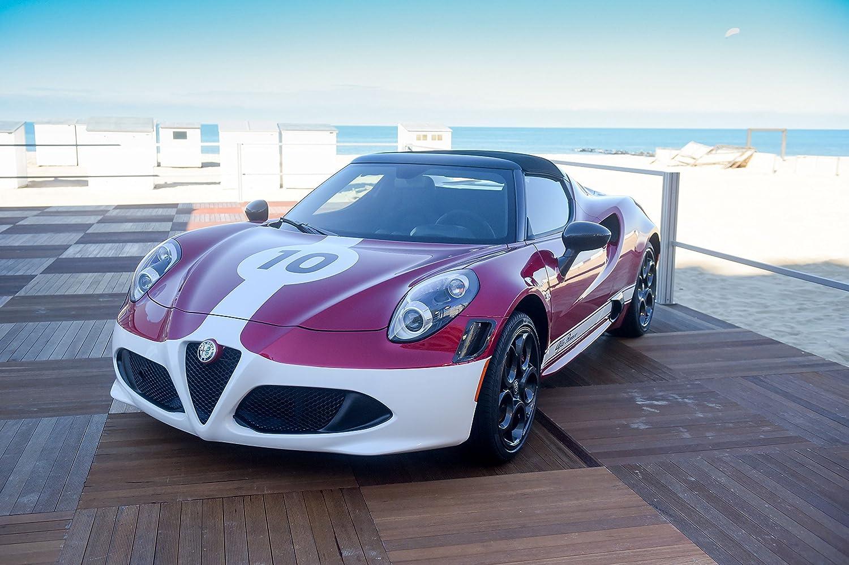 """Alfa Romeo 4C Spider Edizione Corsa (2016) Car Print on 10 Mil Archival Satin Paper Purple/White Front Side Static View 11""""x17"""""""