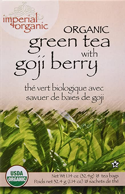 Amazon Com Organic Green Tea With Goji Berry 18 Bag S Health