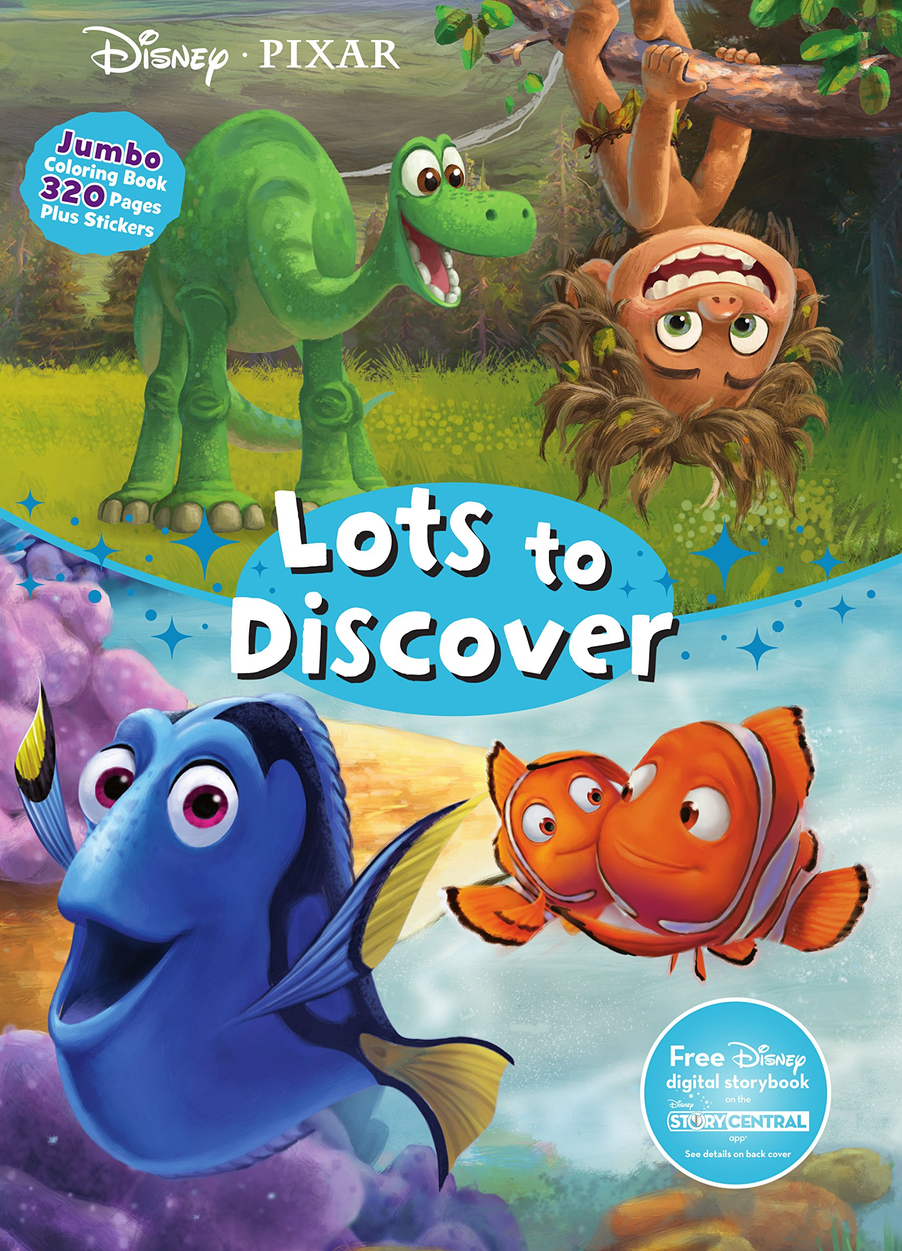 disney pixar lots to discover jumbo coloring book parragon books ltd 9781474837620 amazoncom books - Jumbo Coloring Book