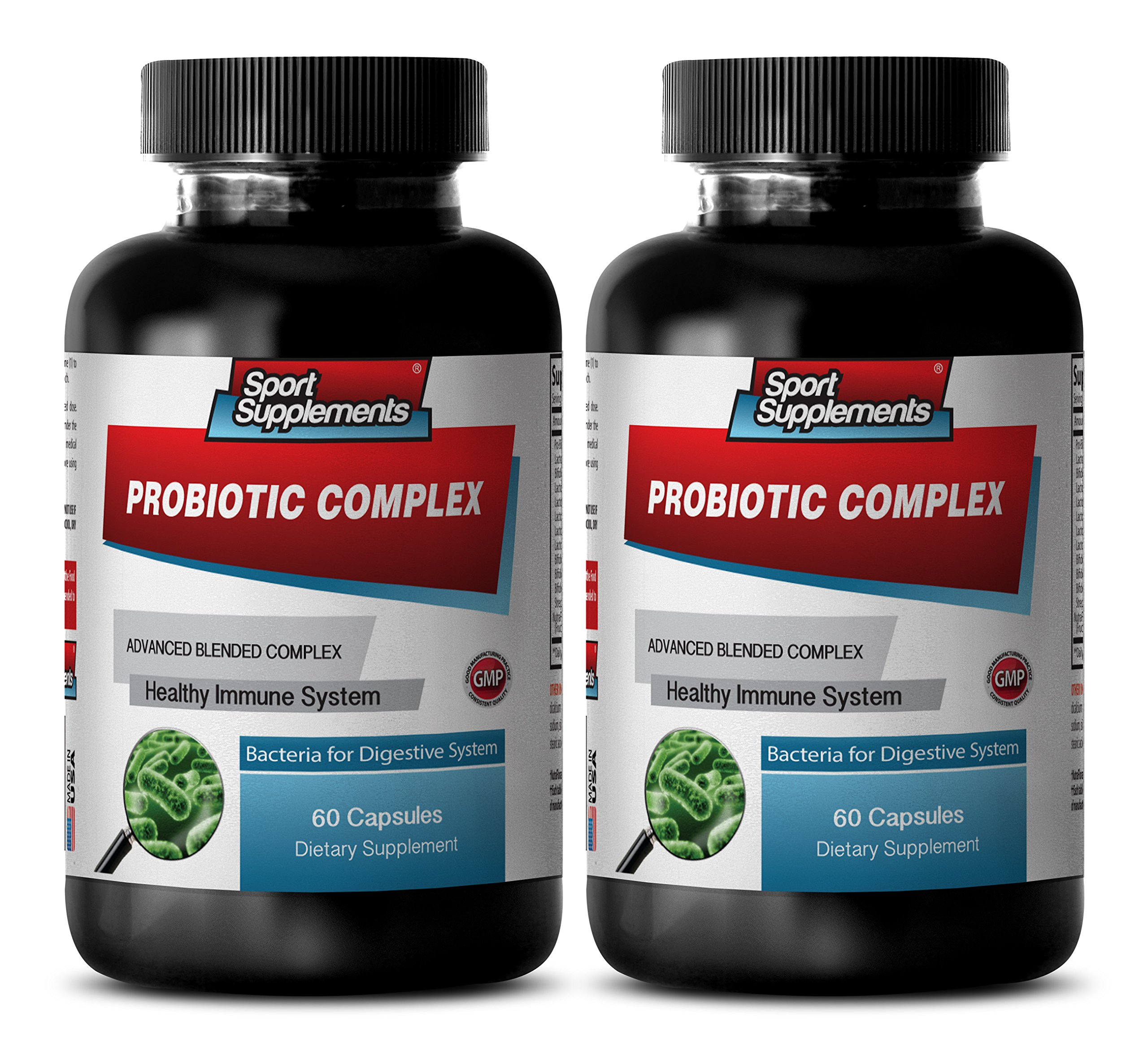 Yeast cleanse diet - PROBIOTIC ADVANCED BLENDED COMPLEX FOR DIGESTIVE SYSTEM - Probiotic yeast - 2 Bottles 120 capsules
