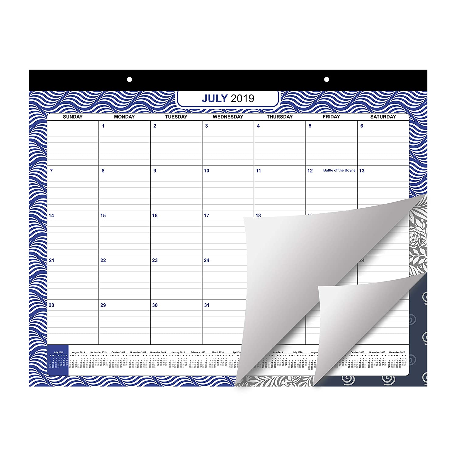 Desk Calendar 2019//2020 by Belle Vous December 2020 Printed Monthly Academic Desk Pad for School and Office Supplies Large Wall and Desk Monthly Agenda Planner Pad from July 2019