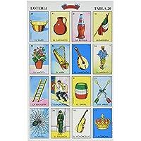 Don Clemente Autentica Loteria Juego de Bingo Mexicano, 20 tabletas, Colorido y Educativo