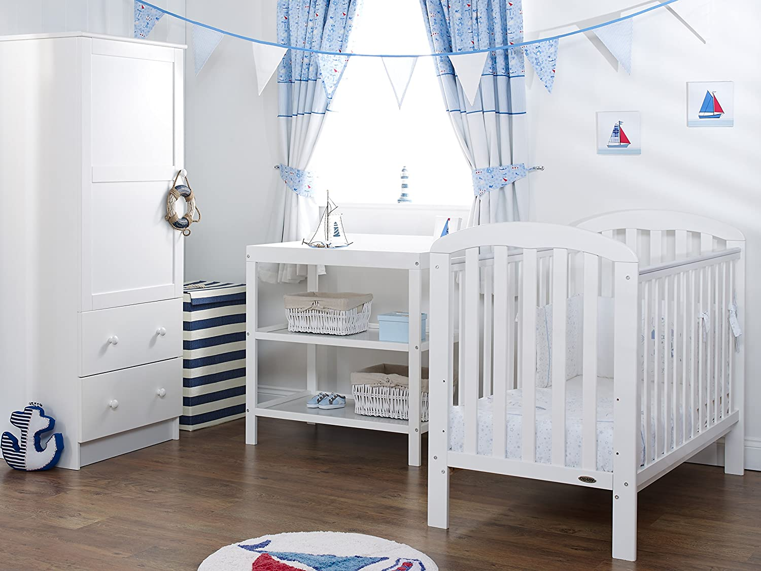 Obaby Lily 3 Piece Nursery Furniture Set White Amazon Co Uk Baby