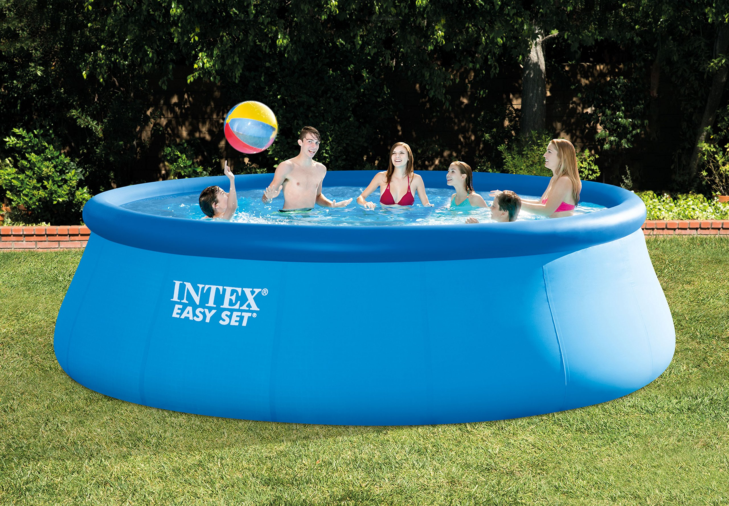 Intex 15ft X 48in Easy Set Pool Set with Filter Pump, Ladder, Ground Cloth & Pool Cover by Intex (Image #4)