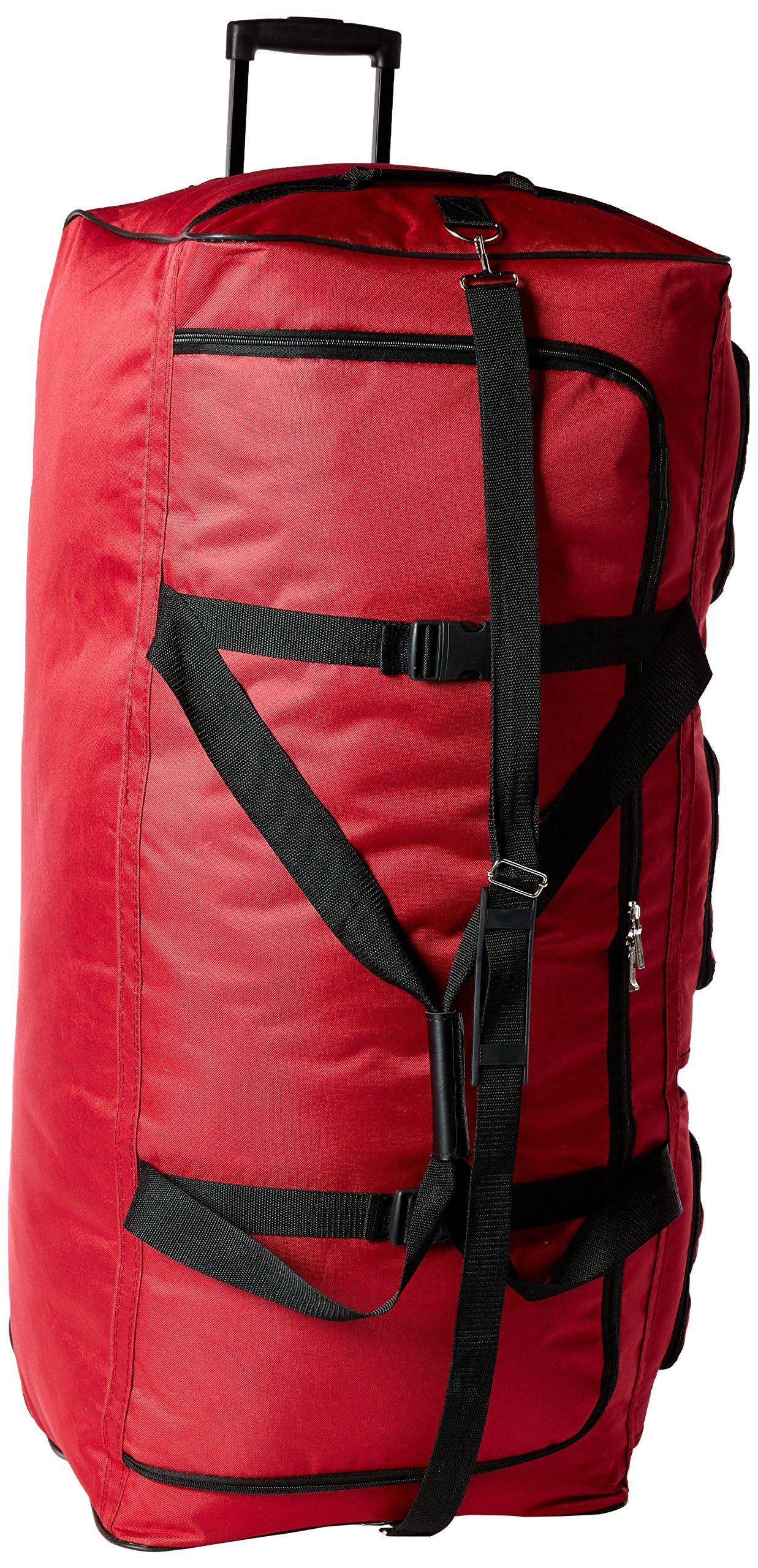 Rockland Luggage 40 Inch Rolling Duffle Bag, Red, X-Large