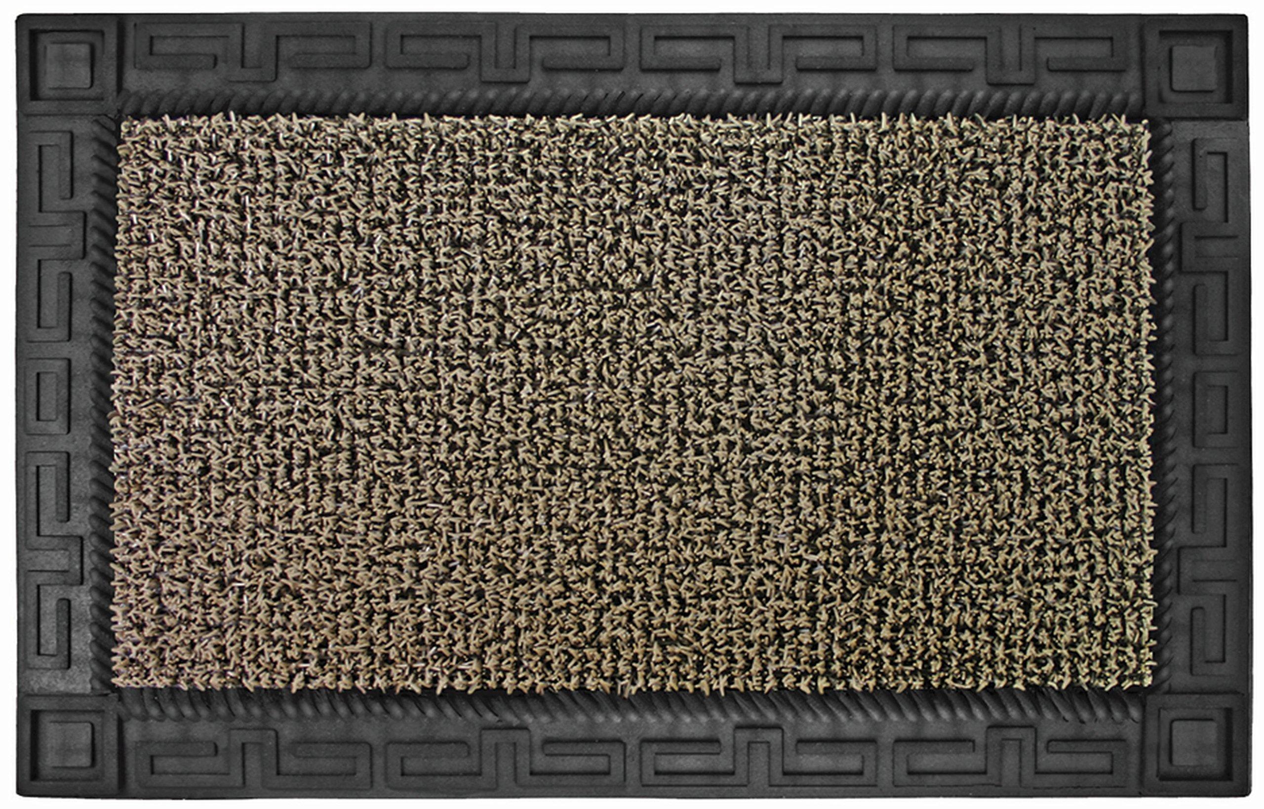 Grassworx Clean Machine Omega Doormat, 24'' x 36'', Earth Taupe (10374063) by Grassworx