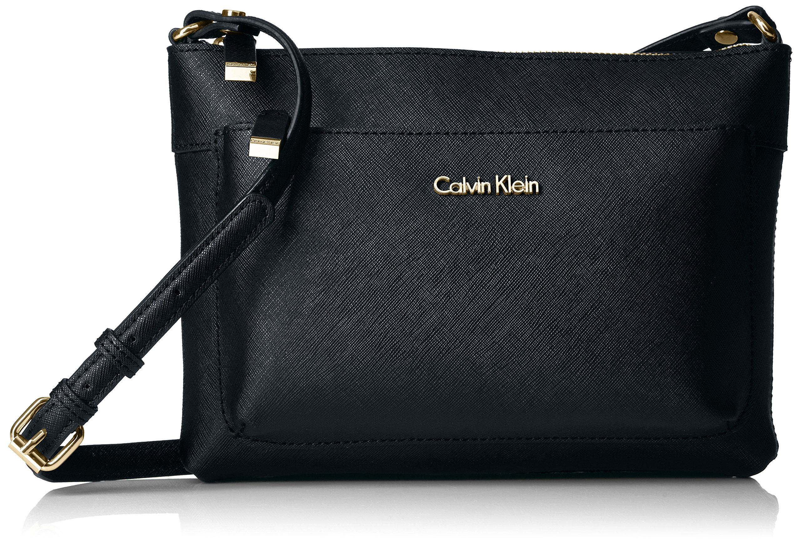 Calvin Klein Saffiano Top Zip Org Crossbody