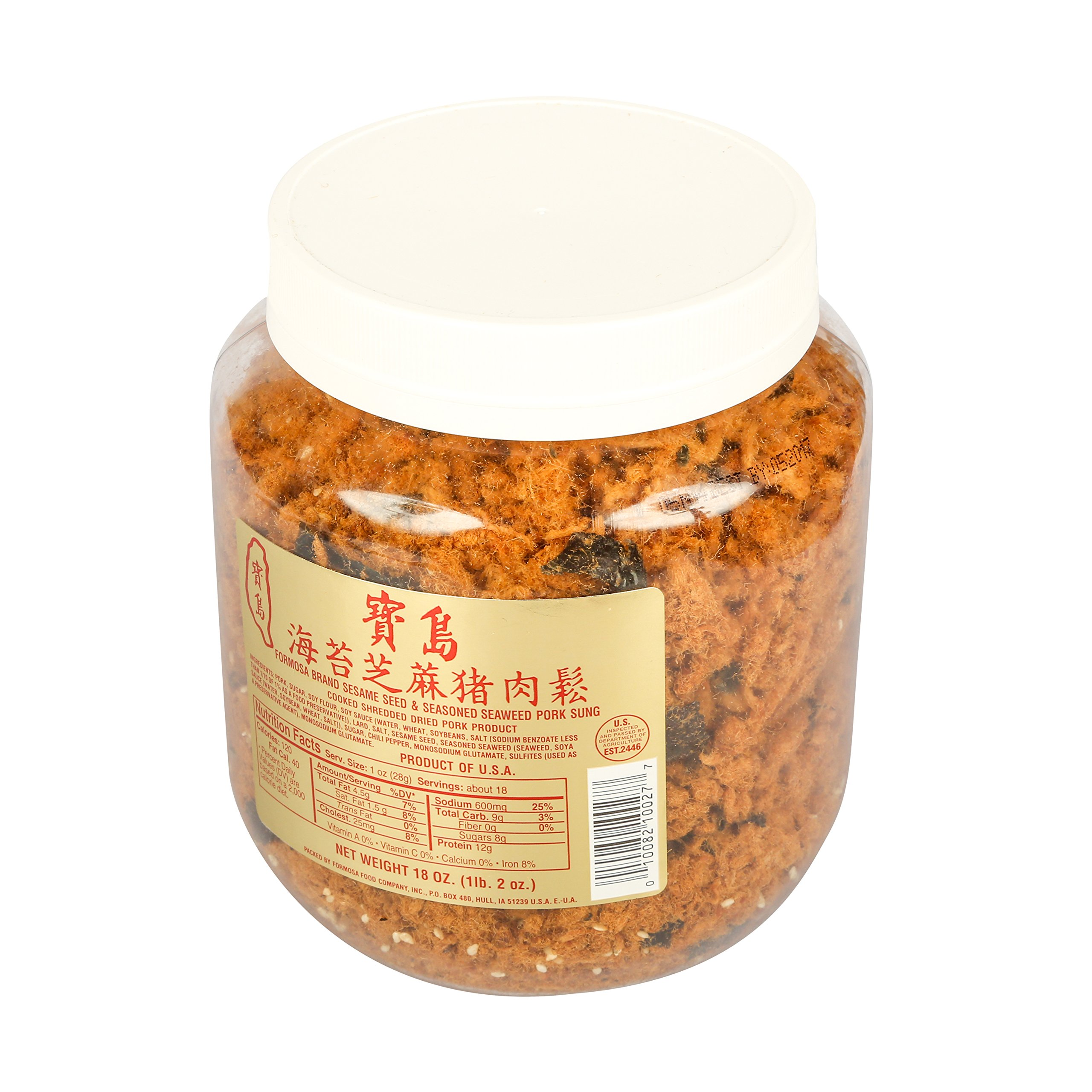 Formosa, Dried Sesame Seed and Seaweed Pork Sung, 20 oz