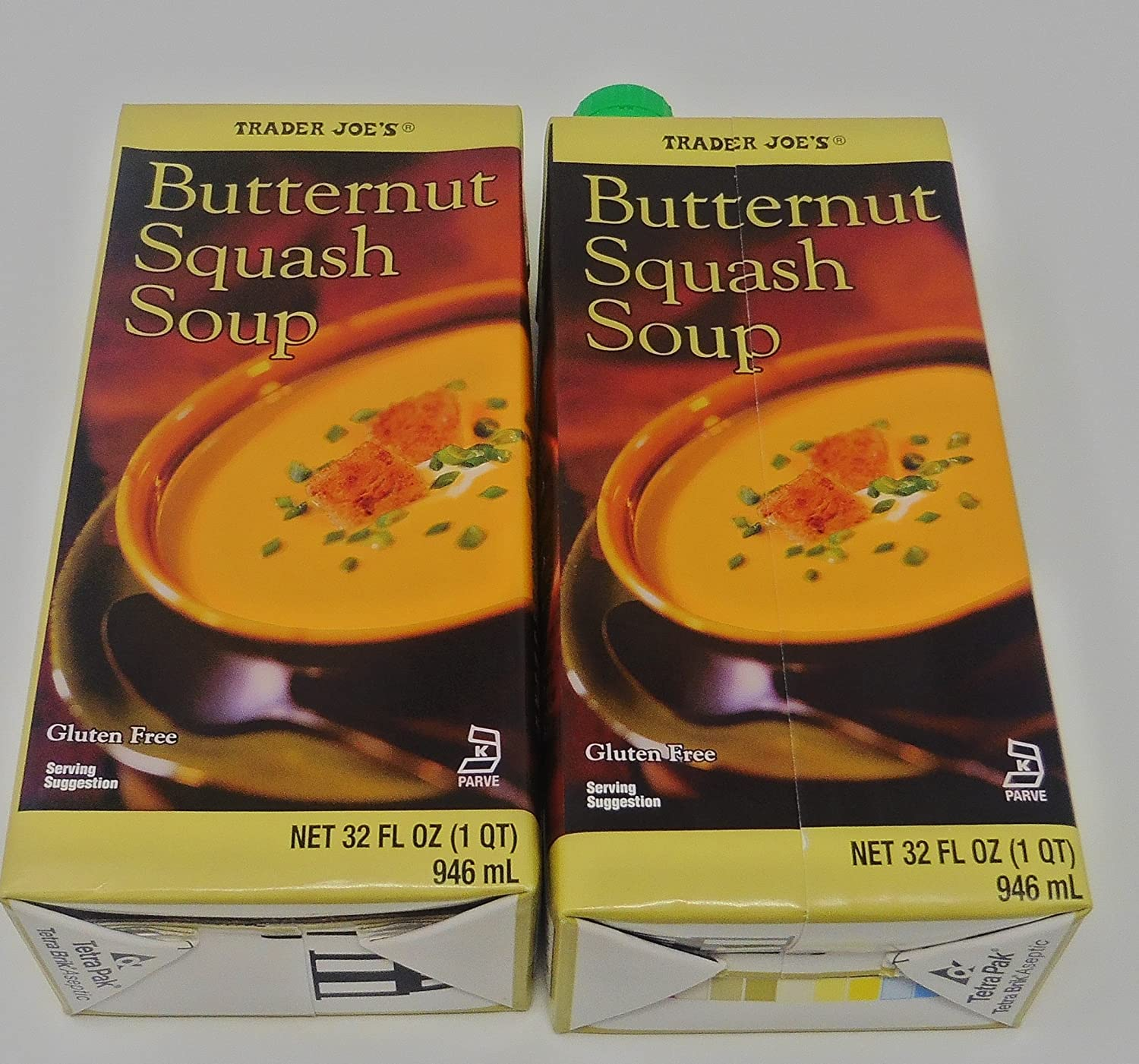 Butternut Squash Soup Gluten Free 2 Packs Each 32 Oz Trader Joes