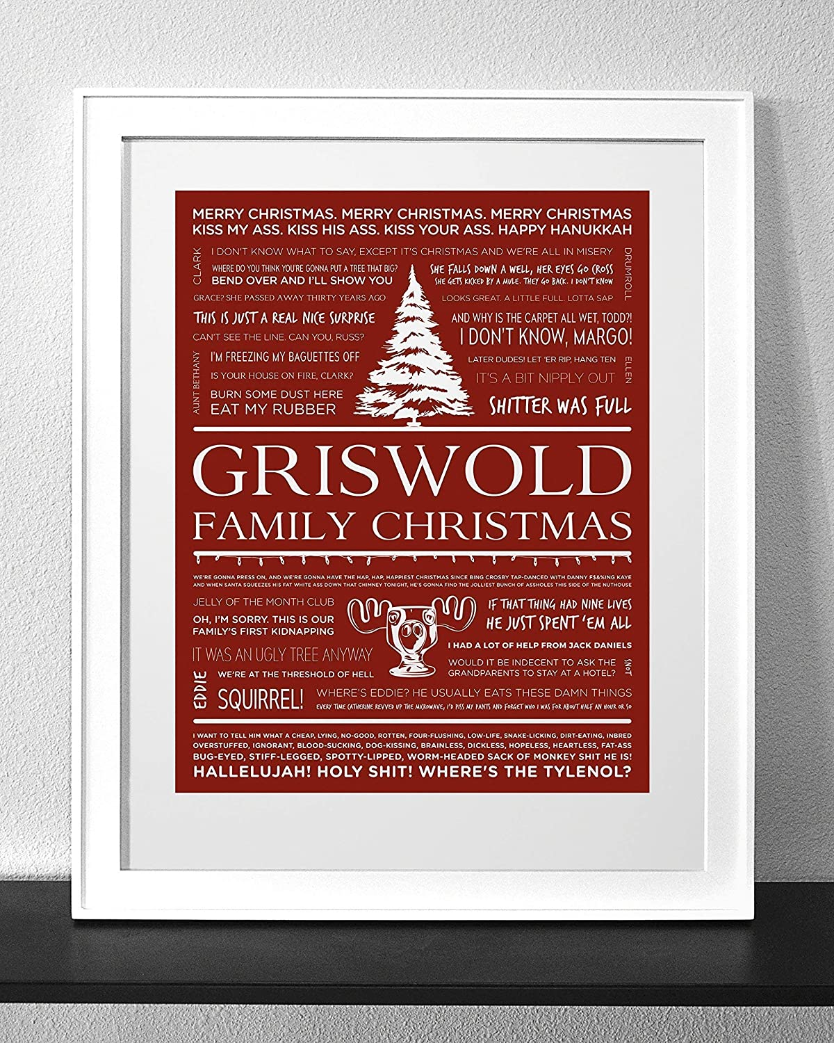 Christmas Vacation Quotes.Customized Christmas Vacation Quotes Art Print Frame Not Included