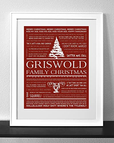 Christmas Vacation Quotes Tree.Customized Christmas Vacation Quotes Art Print Frame Not Included