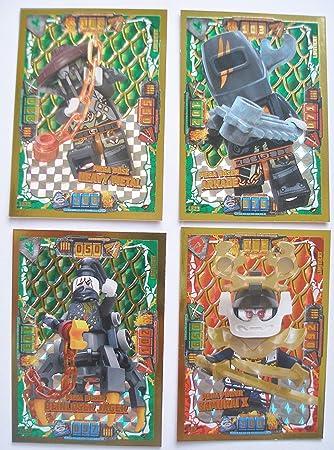 1 Hülle Lego Ninjago Serie 4-1 Gold Karte Trading Card LE 4 Mega Power Nya