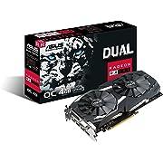ASUS DUAL-RX580-O4G Radeon RX 580 4GB GDDR5 - scheda grafica (Radeon RX 580, 4 GB, GDDR5, 256 bit, 7680 x 4320 pixels, PCI Express 3.0)