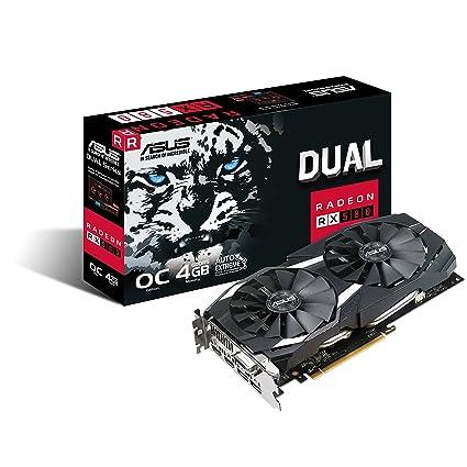 ASUS Radeon RX 580 OC Edition - Tarjeta gráfica (4 GB GDDR5, 256 bits, 7000 MHz, OpenGL 4.5, DVI-D, HDMI 2.0) Negro [Modelo Antiguo]