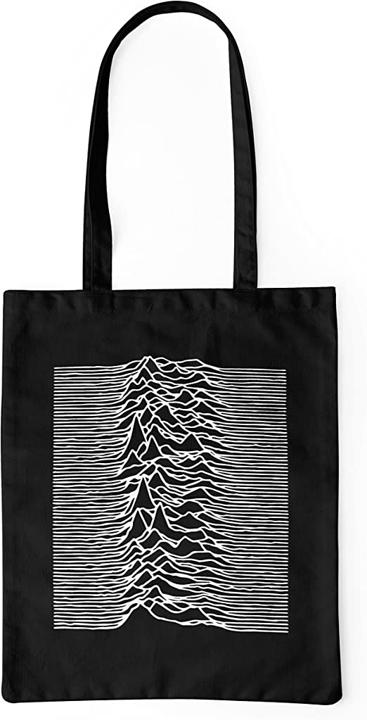 LaMAGLIERIA Bolsa de Tela Joy Division Mountains Artwork - Tote Bag Shopping Bag 100% algodón, Negro: Amazon.es: Hogar