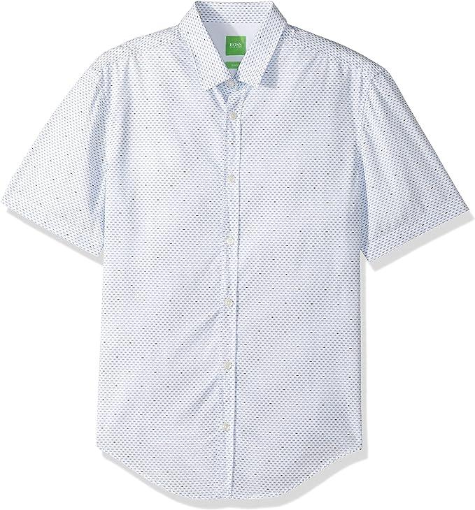 Hugo Boss Hombre 50330830 Camisa con Botones - Azul - X-Large: Amazon.es: Ropa y accesorios