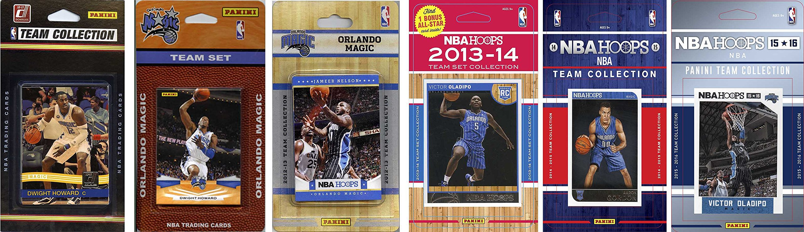 NBA Orlando Magic 6 Different Licensed Team Set Trading Card