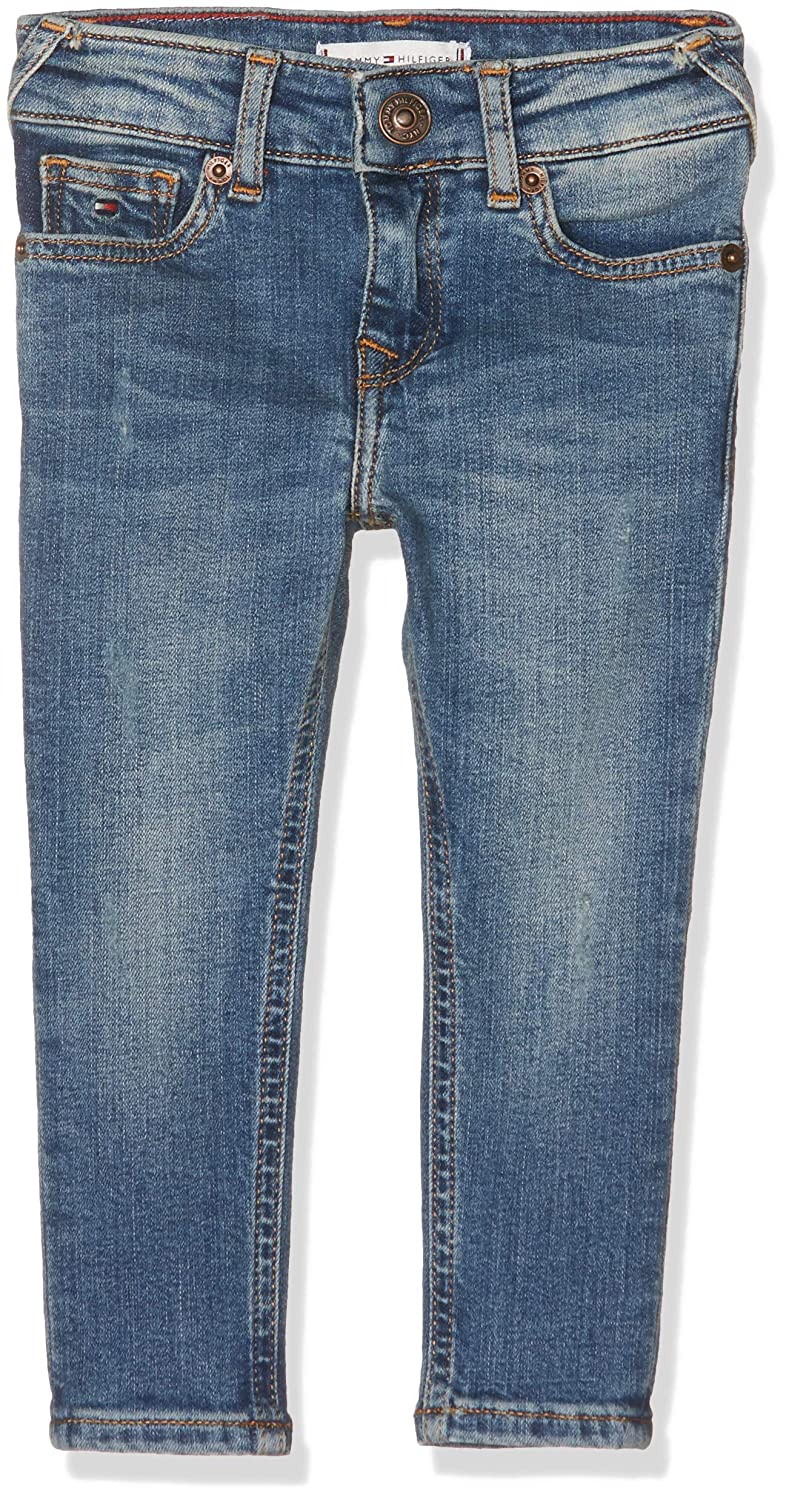 Tommy Hilfiger Baby Girls' Sophie Skinny Adubst Jeans, (Authentic Dusty Blue Stretch 911), 86 KG0KG03767