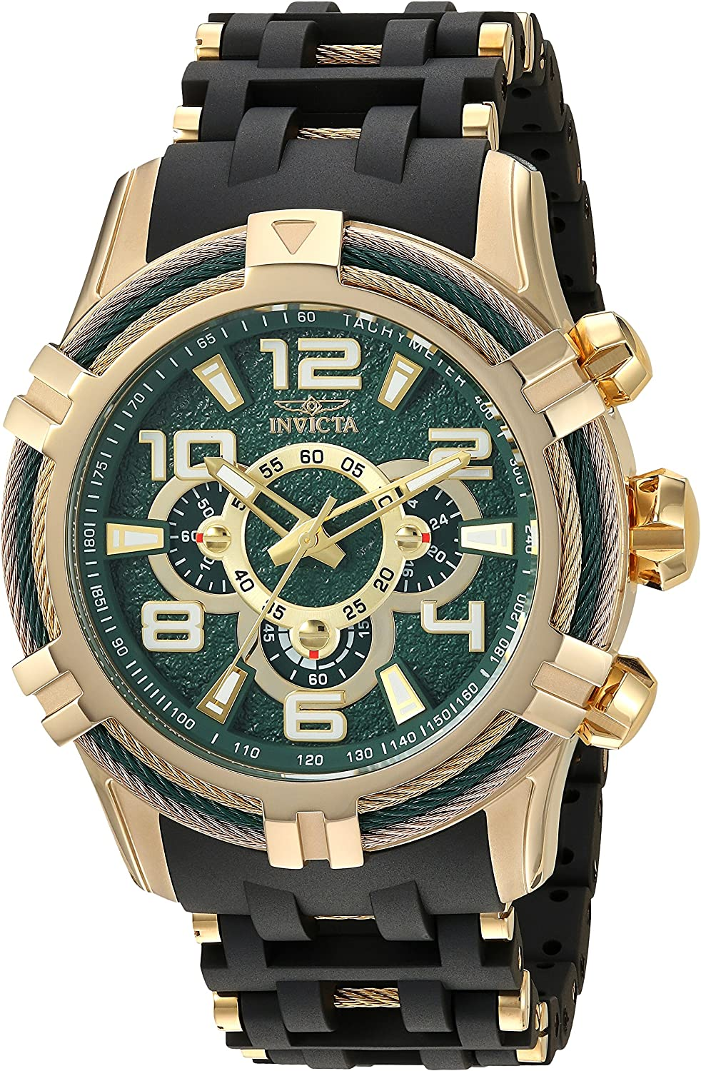 Invicta Men s Bolt Quartz Watch with Stainless-Steel Strap, Black, 25.75 Model 25557