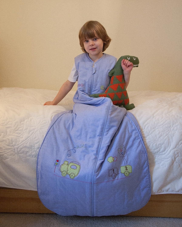 Slumbersac Summer Baby Sleeping Bag 1 Tog - Choo Choo Train, 6-18 months/90cm