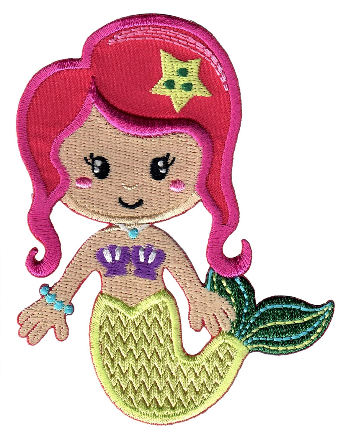 PatchMommy Iron On Patch Mermaid Appliques for Kids Children