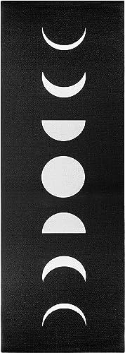 Wildmagic Moon Phases Yoga Mat – 5mm Sticky Mat w Eco Friendly Printed Design