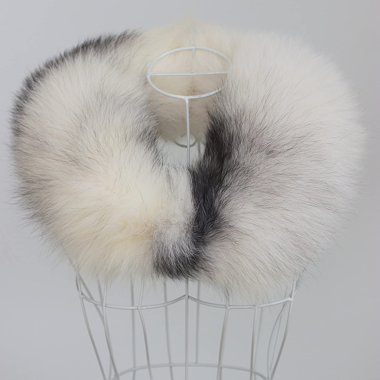 8ff68fb0c9ae1 Amazon.com  Chunxiao Women s Fashion Real Silver White Fox Fur Tail Scarf  Scarves Fox Fur Collar Accessories in Winter  Toys   Games