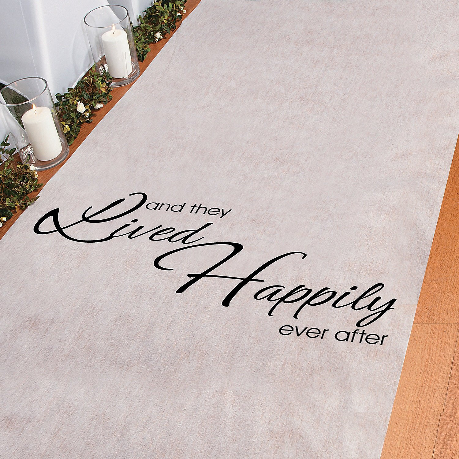 And They Lived Happily Ever After Polyester 100 X 3 Aisle Runner by Fun Express