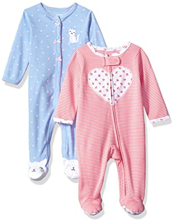 7df342207bad Amazon.com  Carter s Girls  2-Pack Cotton Sleep and Play  Clothing