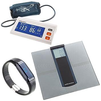 Ultratec Helping Hands - Set con tensiómetro, báscula de baño y pulsera de actividad física