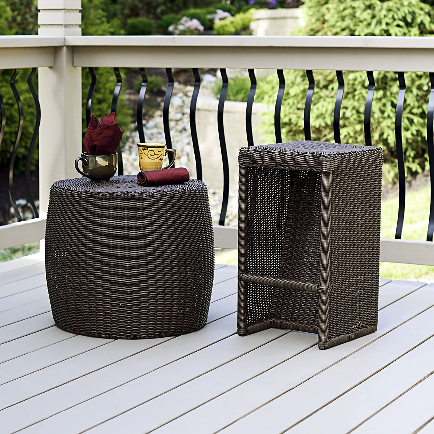 Amazon Household Essentials ML 5005 Resin Wicker Low Side