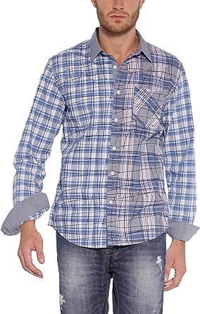 Desigual - Camisa de Manga Larga para Hombre, Talla 39, Color ...