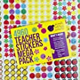 Teacher Stickers For Kids Mega Pack by Purple Ladybug Novelty, 4960 Reward Stickers & Incentive Stickers for Teachers Classroom & School Bulk Use! Includes Smiley Face Stickers & Star Stickers!