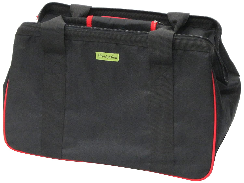 JanetBasket Eco Bag, 18 X10 X12 Black Red