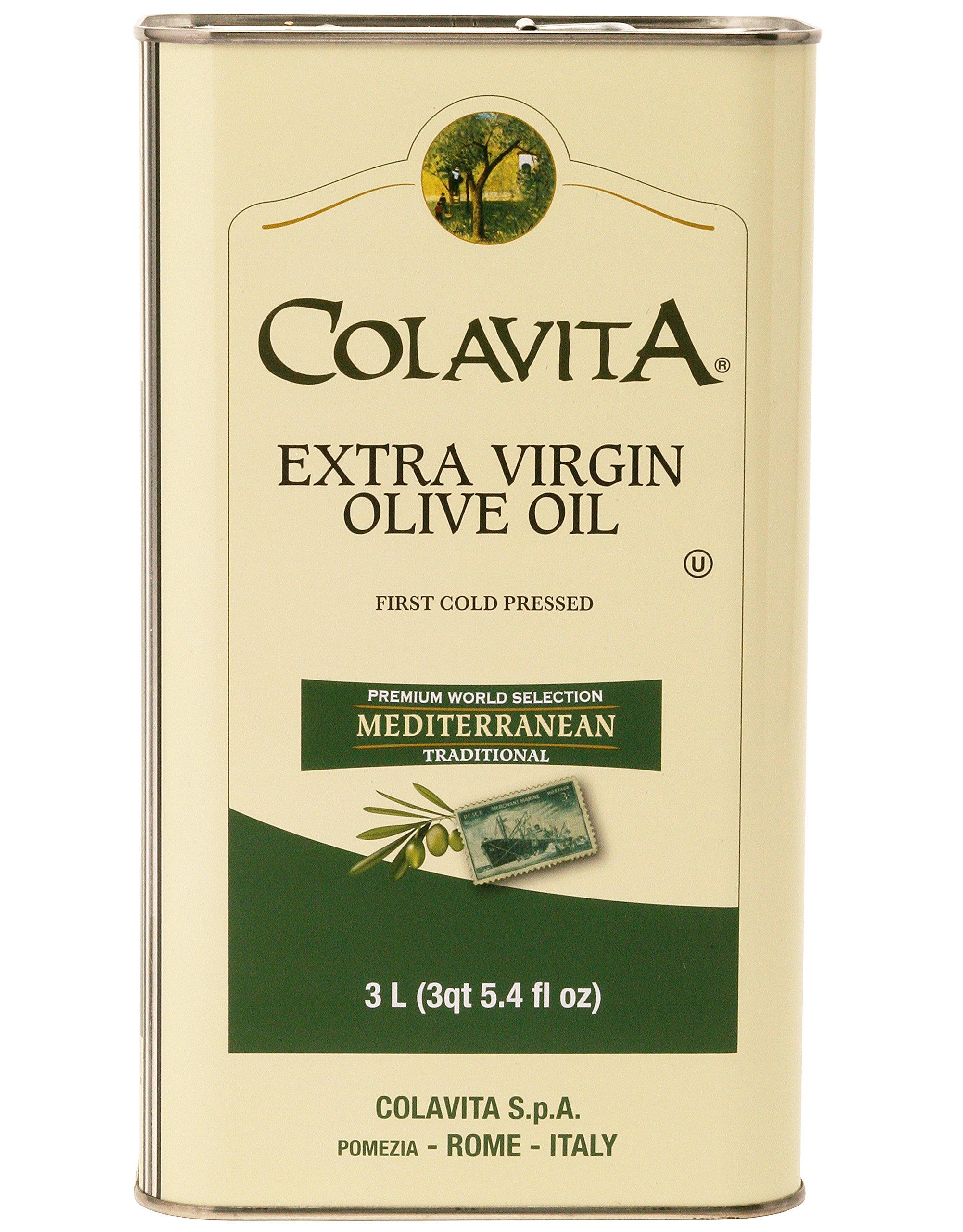 Colavita Mediterranean Extra Virgin Olive Oil Tin, 101.5 Ounce by Colavita