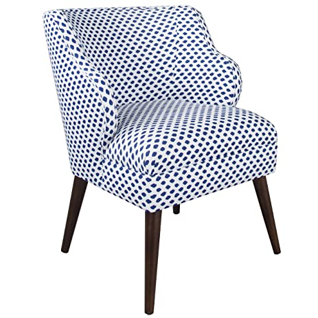 Skyline Furniture Modern Chair In Sahara Midnight White Flax, Multi
