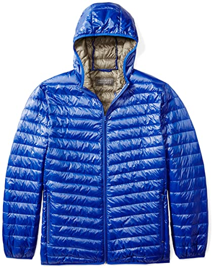 4281ddcfc5470 Amazon.com  The Plus Project Men s Plus Size Lightweight Down Jacket with  Hood  Clothing
