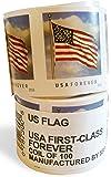 USPS Forever Stamps, Coil of 100 US Flag Postage Stamps (2016 or 2017 version)