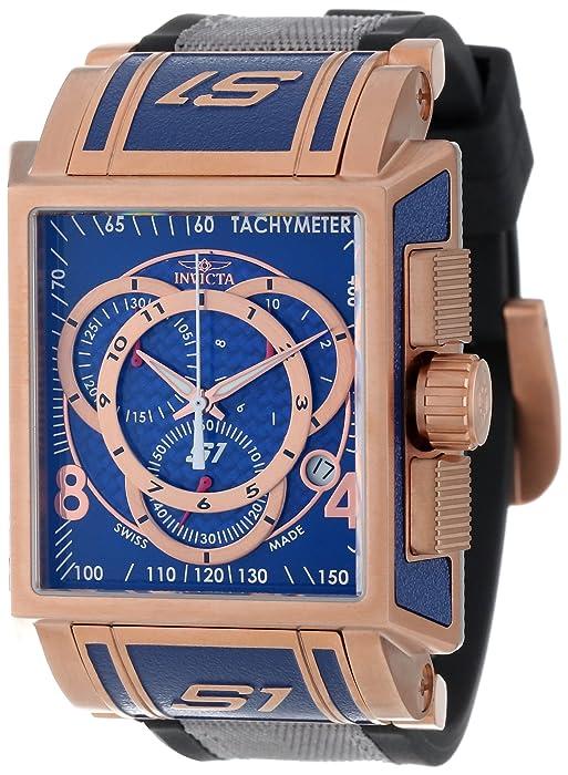 Amazon.com: Invicta Men's 11689 S1 Chronograph Blue Dial Black Polyurethane  and Grey Nylon Watch: Invicta: Watches