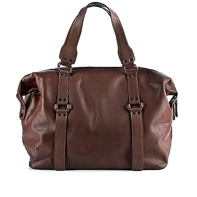 BACCINI sac de voyage ROBERTO - grand - besace weekend - fourretout clair marron en cuir véritable ngwkj9zXe7